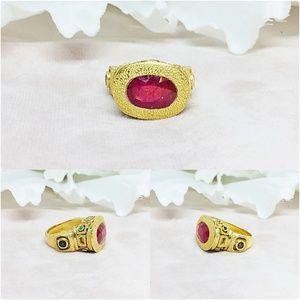 Ruby, Emerald, Amethyst & Sapphire Silver Ring